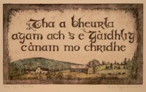 """""""Mo Chridhe""""-etching-"""